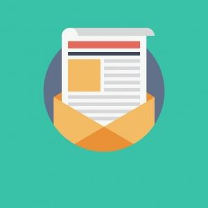 Image en vecteur représentant l'ouverture d'une lettre