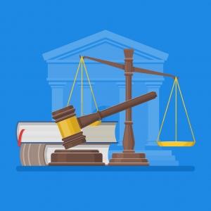 Infographie représentant la justice
