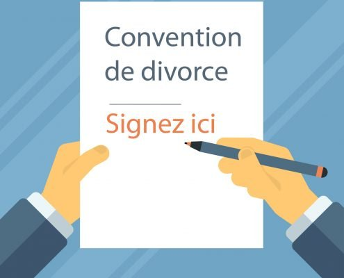 Etape de signature de la convention de divorce