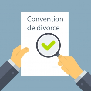 Vérification de la convention de divorce